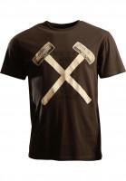 Independent-T-Shirts-Hammers-vintage-black-Vorderansicht