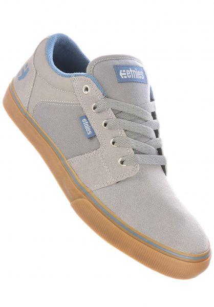 etnies Alle Schuhe Barge LS grey-blue-gum vorderansicht 0602679