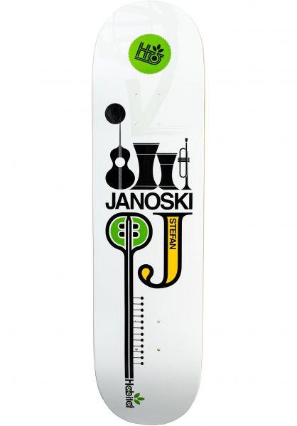 Habitat Skateboard Decks Stefan Janoski Quartet 2003 Reissue white vorderansicht 0266477