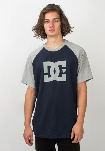 DC Shoes T-Shirts Star Raglan blackiris-greyheather vorderansicht 0395407