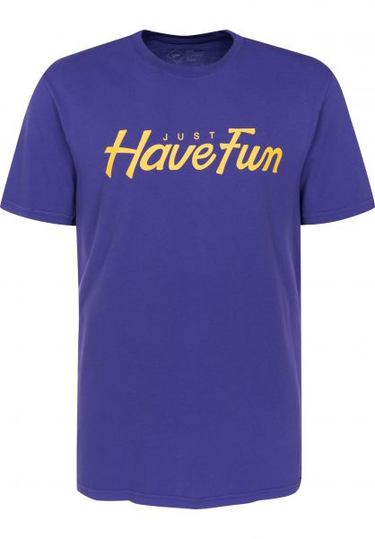 Just Have Fun T-Shirts Teamed Up purple Vorderansicht