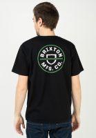 brixton-t-shirts-crest-black-vorderansicht-0323172