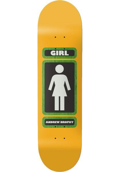 Girl Skateboard Decks Brophy 93 Til yellow-green vorderansicht 0261133
