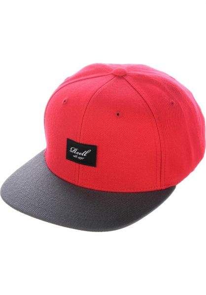 Reell Caps Pitchout 6-Panel red-greyblack vorderansicht 0564483