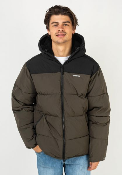 Mazine Winterjacken Estevan Puffer Jacket black-blackolive vorderansicht 0250309