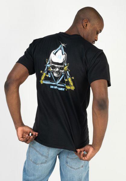 HUF T-Shirts BLVD TT black vorderansicht 0323026