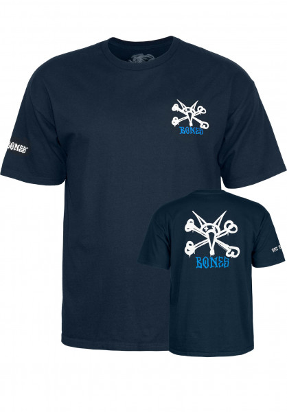 Powell-Peralta T-Shirts Rat Bones navy Vorderansicht
