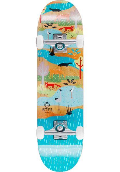 BTFL Longboards Kinder Skateboard komplett Bjoerk Kids multicolored vorderansicht 0162899