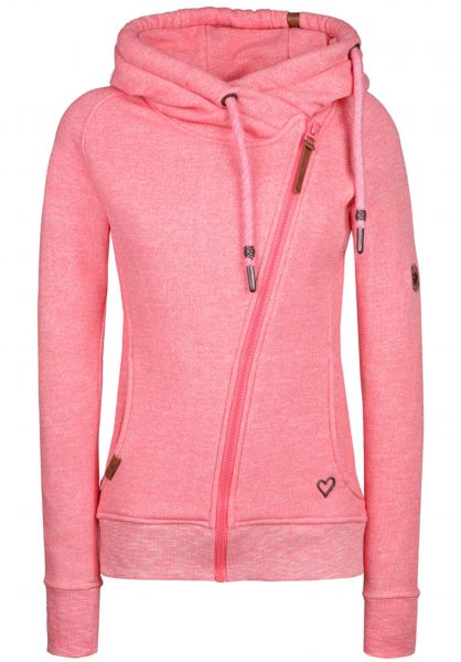 Snakecharmer alife and kickin Zip Hoodies in melone for Women  687bb55dc7