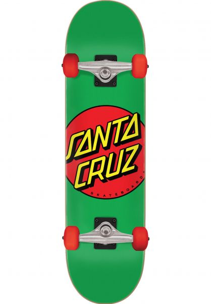 Santa-Cruz Skateboard komplett Classic Dot Mid green vorderansicht 0162518