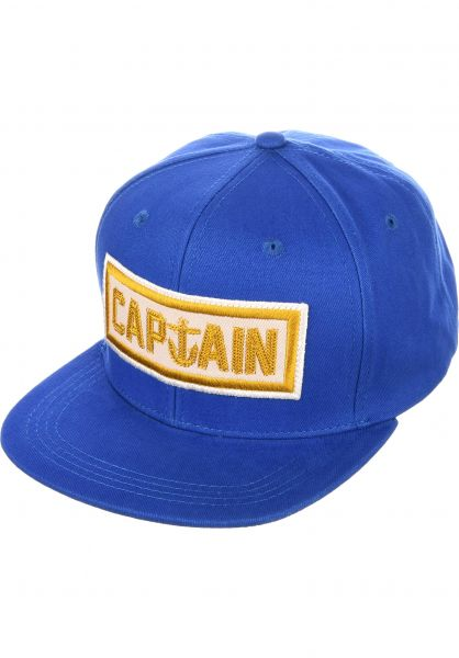 Captain Fin Caps Naval Captain 6 Panel royalblue Vorderansicht