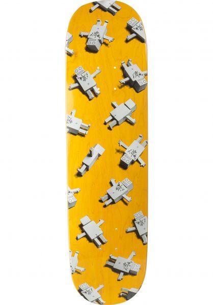 ROBOTRON Skateboard Decks Multitron yellow vorderansicht 0263514