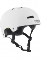 TSG Helme Evolution Solid Colors injected white Vorderansicht