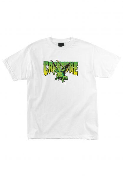 Creature T-Shirts Swamper white vorderansicht 0324216