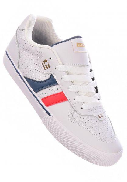 Globe Alle Schuhe Encore 2 white-blue-red vorderansicht 0601275
