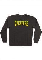 Creature Sweatshirts und Pullover Logo charcoal-heather Vorderansicht