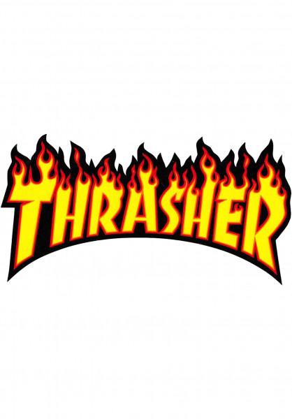 Thrasher Verschiedenes Flame Sticker Medium yellow Vorderansicht