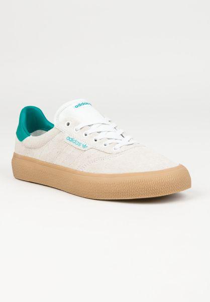adidas-skateboarding Alle Schuhe 3MC corewhite-green-gum vorderansicht 0604427