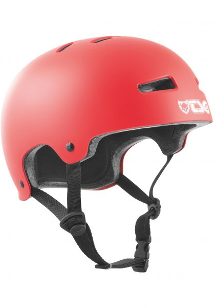 TSG Helme Evolution Solid Colors satin sonic red vorderansicht 0075046
