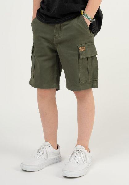 TITUS Shorts Twill Cargo Kids olive vorderansicht 0551840