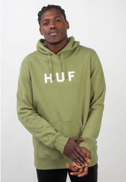 HUF Hoodies OG Logo driedherb vorderansicht 0444581