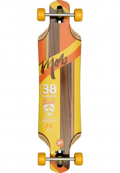 MOB-Skateboards Longboards komplett Thrills 38 Rosewood yellow Vorderansicht