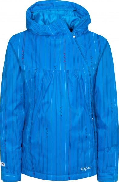 Rehall Snowboardjacken Linda-11-bluestripe blue-striped Vorderansicht