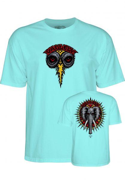 Powell-Peralta T-Shirts Vallely Elephant celedon Vorderansicht