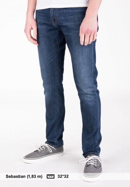 Carhartt WIP Jeans Rebel Pant (Spicer) bluedeepcoastwashed vorderansicht 0277004