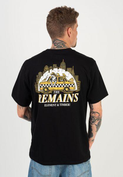 Element T-Shirts x Timber Taxi Driver flintblack vorderansicht 0322583