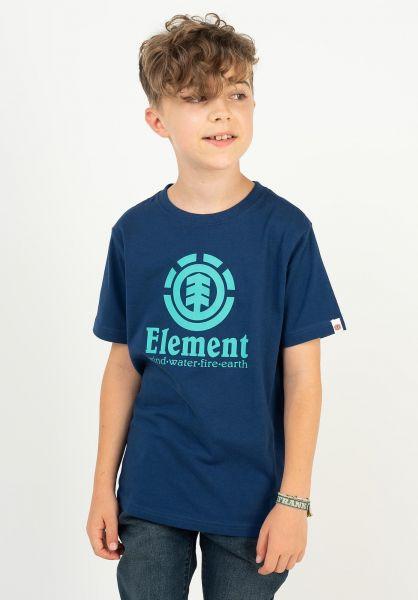 Element T-Shirts Vertical Kids bluedepths vorderansicht 0371465