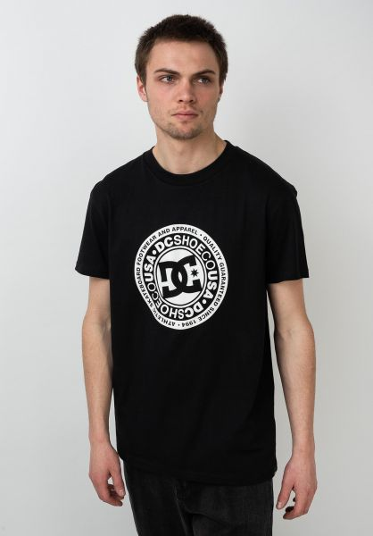 DC Shoes T-Shirts Circle Star 2 black-snowwhite vorderansicht 0320589
