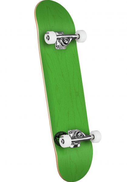 Mini-Logo Skateboard komplett ML Chevron Stamp - Shape 243 dyed green vorderansicht 0162204