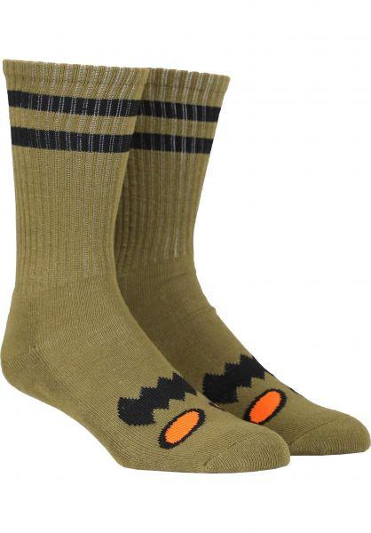 Toy-Machine Socken Monster-Face moss vorderansicht 0630254