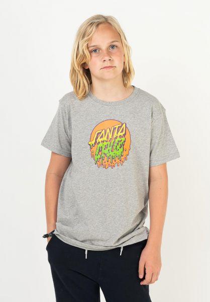 Santa-Cruz T-Shirts Youth Rad Dot heathergrey vorderansicht 0323319