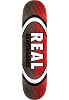 Real Skateboard Decks Parallel Fade Oval black-red Vorderansicht