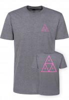 HUF T-Shirts Triple Triangle arcticgrey Vorderansicht