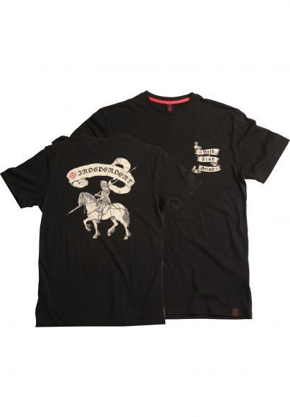 Independent T-Shirts French Death Horse black Vorderansicht
