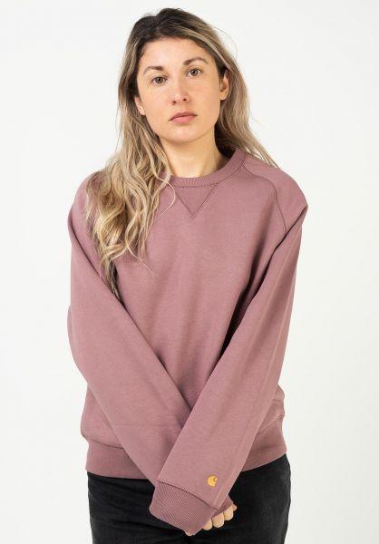 Carhartt WIP Sweatshirts und Pullover W´ Chasy malaga-gold vorderansicht 0422331