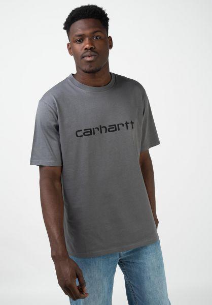 Carhartt WIP T-Shirts Script OG husky-black vorderansicht 0397478