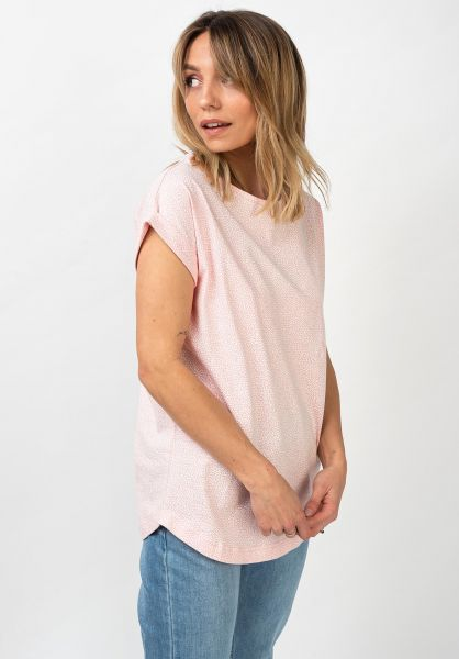 Wemoto T-Shirts Holly Printed rose-offwhite vorderansicht 0399600