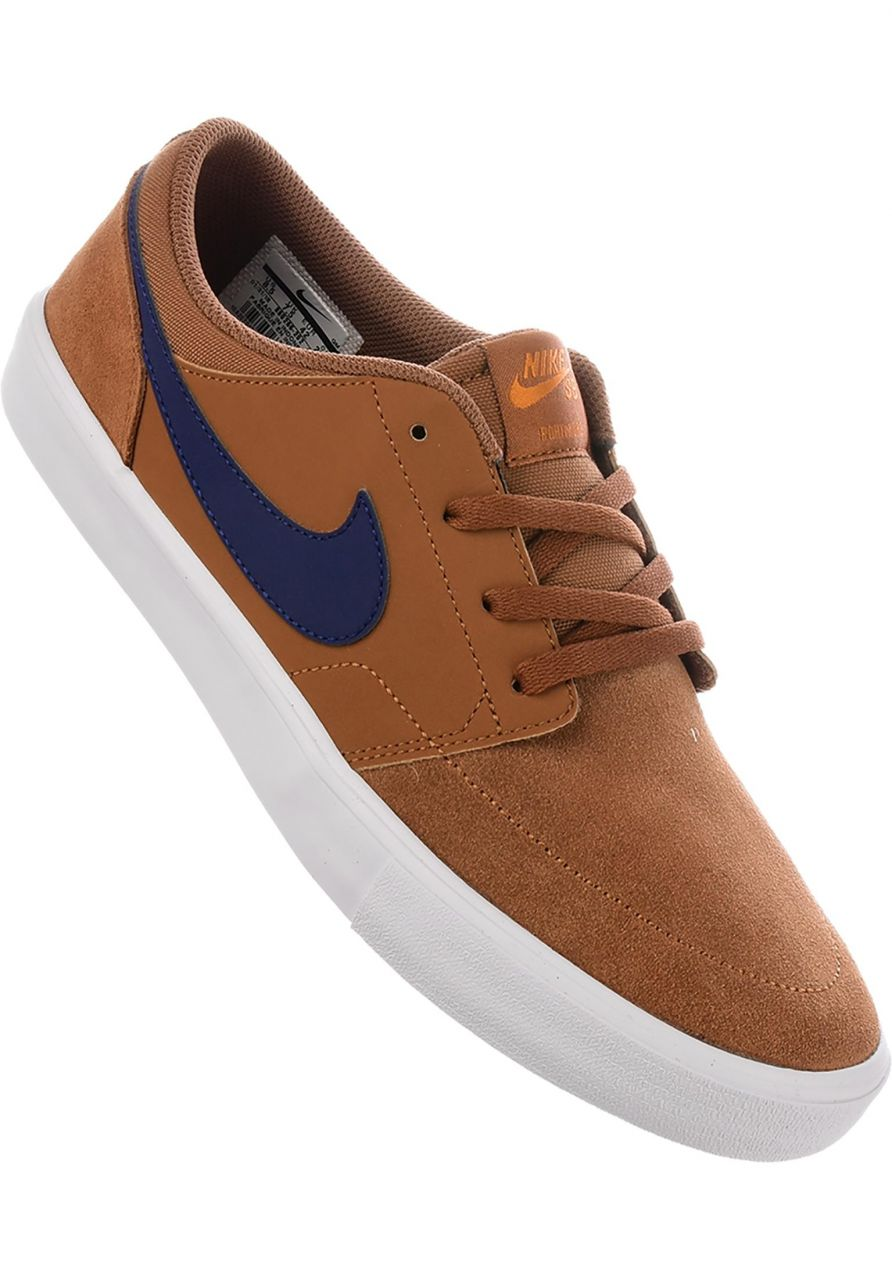 Solarsoft Portmore II Nike SB All Shoes in britishtan-blue for Men ... 9c05caca0