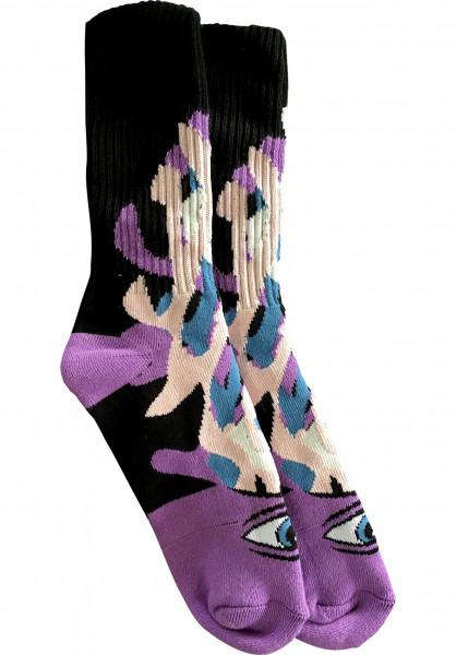 Toy-Machine Socken Barf Sect purple Vorderansicht