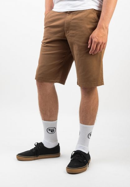 Reell Chinoshorts Flex Grip Chino ocre-brown vorderansicht 0551671