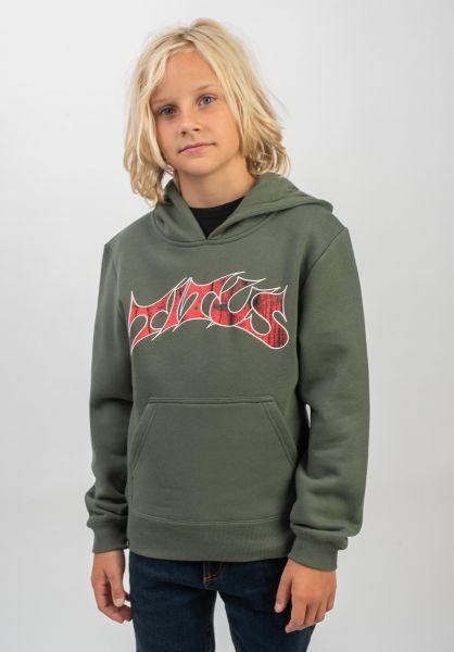 TITUS Hoodies Schranz Kids olive vorderansicht 0442387