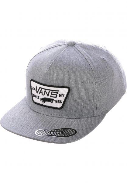 Vans Caps Full Patch Snapback Kids heathergrey vorderansicht 0567044