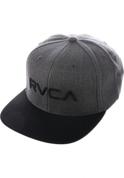 RVCA Caps RVCA Twill Snapback II charcoalheather Vorderansicht b98709d2bb7
