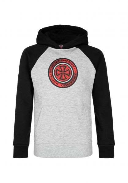 Santa-Cruz Hoodies Youth Target Raglan black-heathergrey vorderansicht 0446230