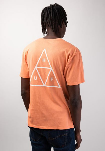 HUF T-Shirts Triple Triangle canyonsunset vorderansicht 0390861