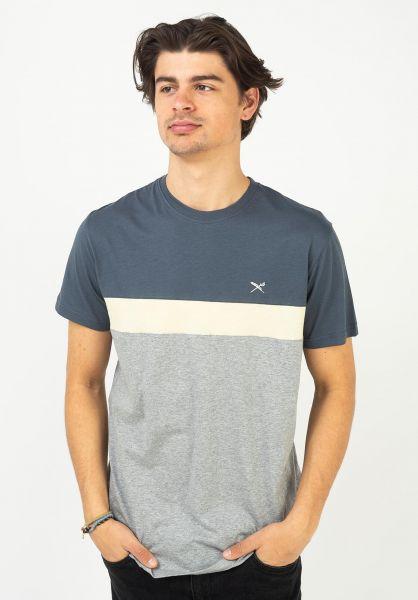 iriedaily T-Shirts Court darksteel vorderansicht 0320401